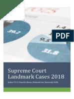 Supreme Court Landmark Judgements 2018