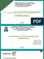 Apresentação_Governança e Sustentabilidade Empresarial