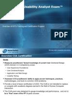 CUA Exam Overview