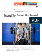 Dumbbell Only Workout_ 5 Day Dumbbell Workout Split