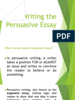 Writing the Persuasive Essay