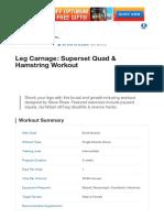 Leg Carnage_ Superset Quad & Hamstring Workout _ Muscle & Strength