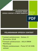 Petunjuk Pelaksanaandan Petunjuk Teknis Speech Contest