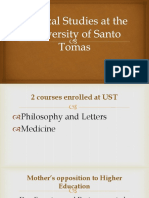 Medical Studies at the University of Santo Tomas