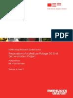 Preparation of a Medium-Voltage DC Grid Demonstration Project