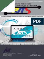 REVISTA ARBITRADA DE TECNOLOGÍA Y SOCIEDAD_ 11 N°1