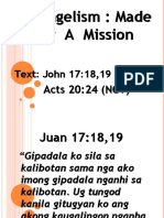 MISSION Sunday Preaching