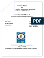 A Comparative Analysis of Performance of Mutual Funds Between Private and Public Sectors