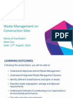 Waste Management on Construction Sites