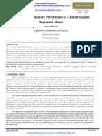 Assessing Discriminatory Performance of a Binary Logistic Regression Model