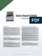 Data Import Utility Guide v2.3.1 GER Rev0