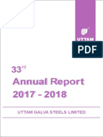 UGSL Annual Report 33rd AGM 2017-18