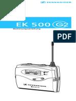 EK 500 G2 Owners Manual