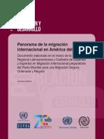 Panorama de la Migración en América Del Sur. Cepal.2018