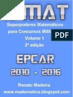 Livro X-MAT volume 1 EPCAr 2010-2016