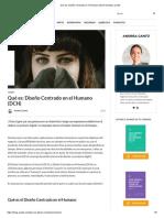 Qué Es_ Diseño Centrado en El Humano (DCH) _ Andrea Cantú