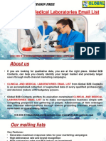 Clinical and Medical Laboratories Email List