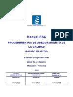 Manual PAC. Cap. 1 Objeivos Cap 2. Procedimienos Mandatorios