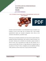 Plan de Exportacion Para Chocotejas Con Relleno de Licores Regionales