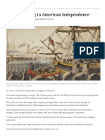 events leading to american independence