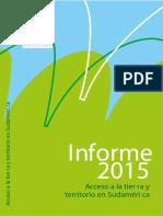 Informe 2015 Acceso a tierra y territorio en Sudamérica