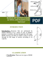 Range of Motion Exercises &