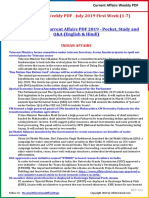 Current Affairs Weekly PDF - July 2019 First Week (1-7) by AffairsCloud