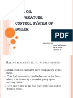 Fuel oil Temperature control system in marine boiler