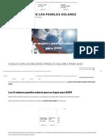 CUÁLES SON LOS MEJORES PANELES SOLARES PARA 2019 -Paneles solares fotovoltaicos.org