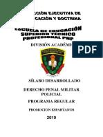Codigo Penal Militar Policial 2019 Espartanos