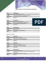Agenda Final i Jornadas Julio