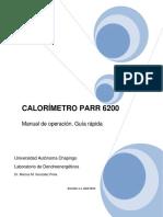 Guia Operacion Calorimetro