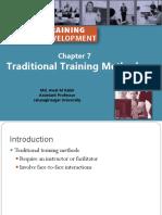 Chp 7 Traditional Training Methods