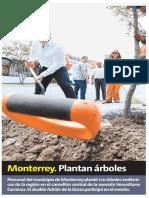 26-07-19 Monterrey. Plantan árboles