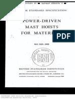 Bs 3125-1959(Power Driven Mast Hoist for Materials)
