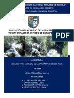 Evaluacion de La Calidad Del Agua Del Rio Mancos.
