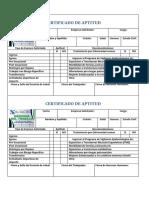 certificado de aptitud