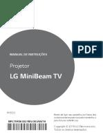Manual de instruções LG MiniBeam TV