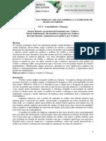 POLÍTICA DE CRÉDITO E COBRANÇA DE UMA EMPRESA CATARINANSE DO RAMO ALUMÍNIOS