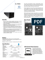 Dell 1000W UPS spec sheet