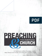 Preaching & the Emergent Church