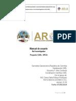 Manual de Usuario Investigador ARCA v2