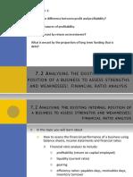 7.2 Financial Ratio Analysis
