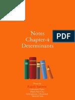 class 12 notes determinants
