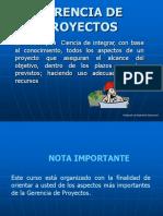 Gerencia de Proyectos Tutorial Unidad I