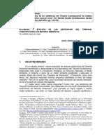"""Derecho Ambiental - Javier Jiménez Vivas - Alcances y Efectos de Las Sentencias Del Tribunal Constitucional en Materia Ambiental. Un Análisis Caso Por Caso"""" - Taller 2"""