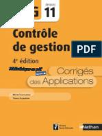 Nathan - DCG UE 11 - Contrôle de Gestion - Manuel & Applications - 4e Édition 2017 - Corrigés