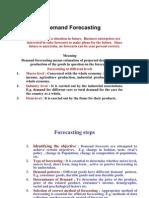 MMS Demand Forecasting