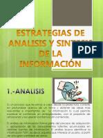 ESTRATEGIAS DE ANÁLISIS Y SÍNTESIS DE LA INFORMACIÓN