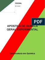 Apostila de Química Geral Experimental